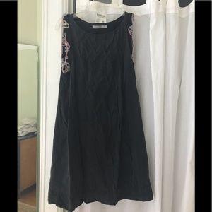 bill tornade sleeveless embroidered dress